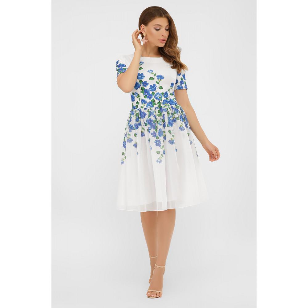 Белое платье в романтичный принт Мияна фото 2