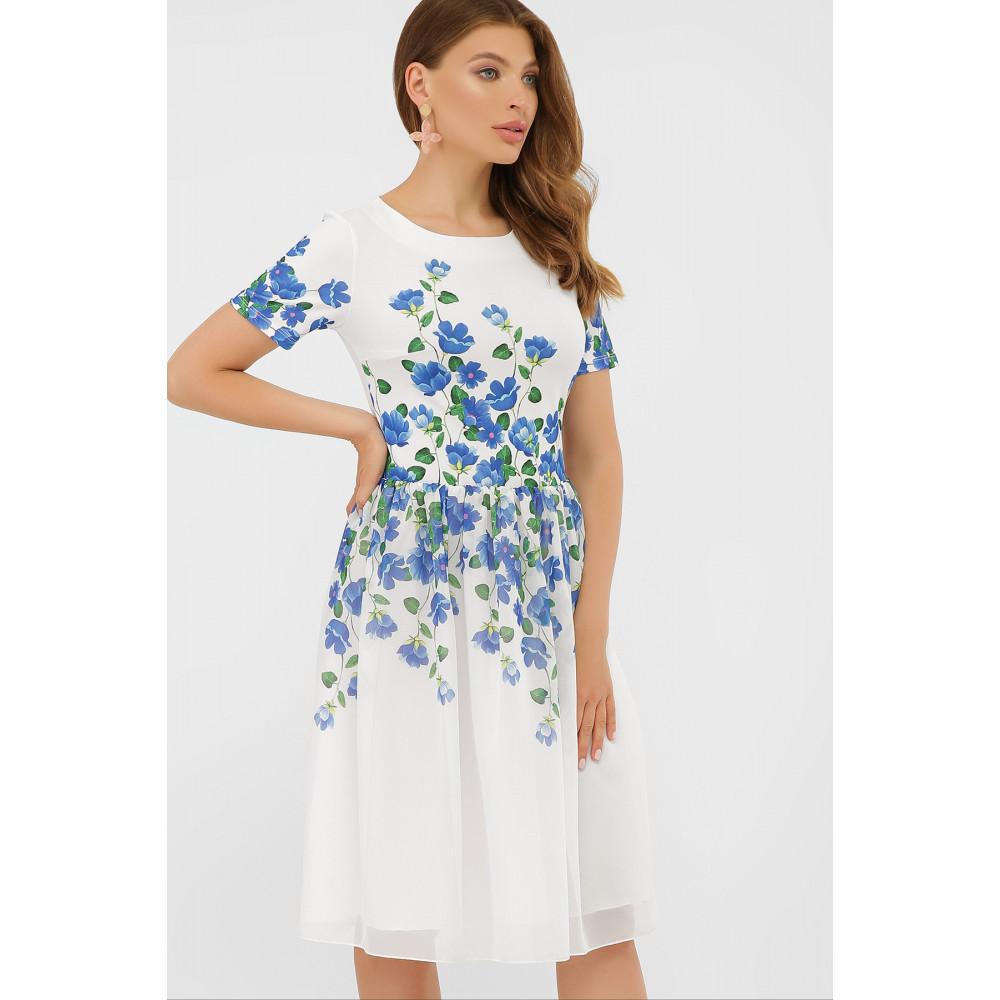 Белое платье в романтичный принт Мияна фото 3