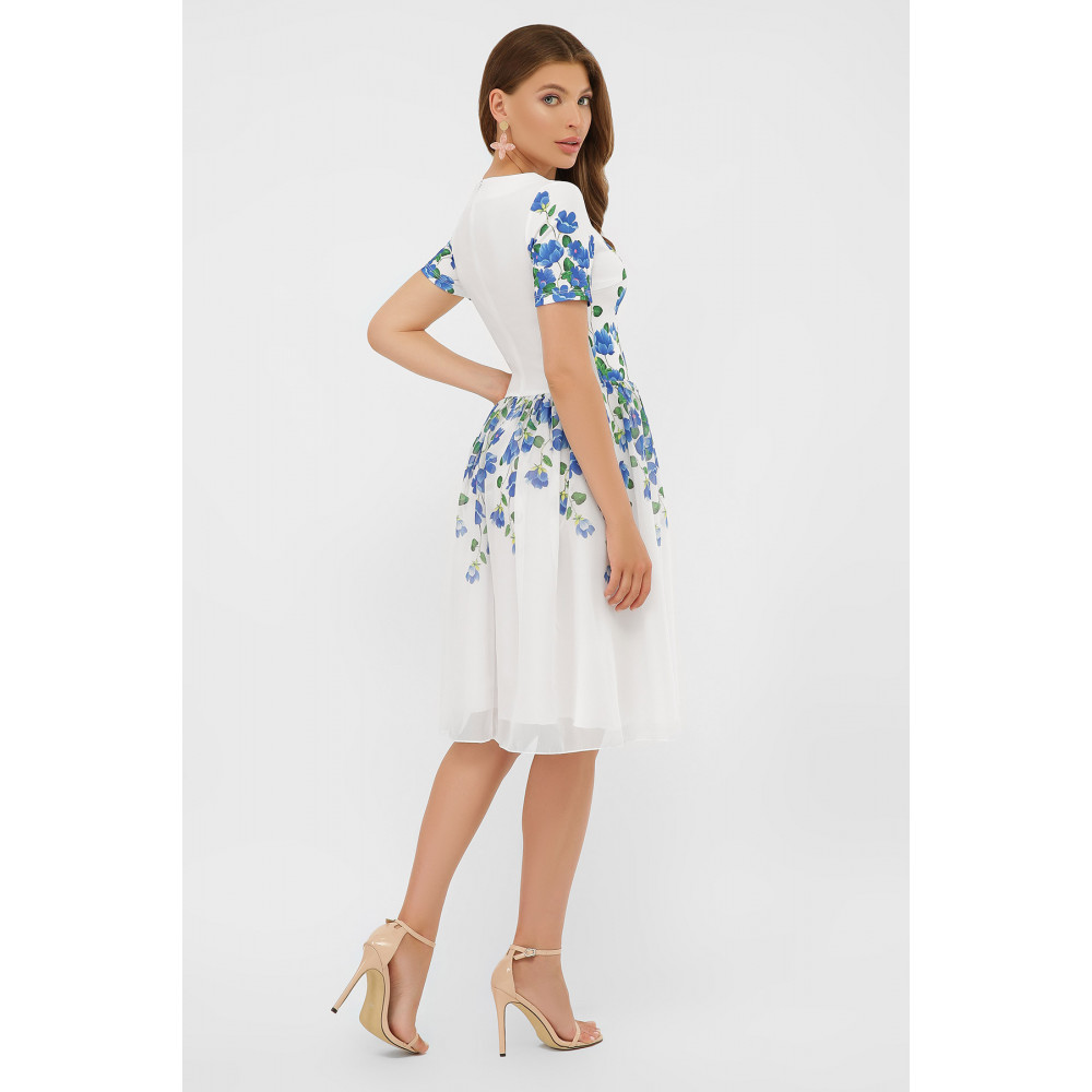 Белое платье в романтичный принт Мияна фото 4