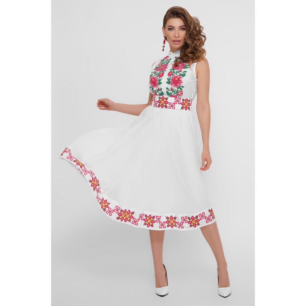 Белое платье с орнаментом Кайли фото 1