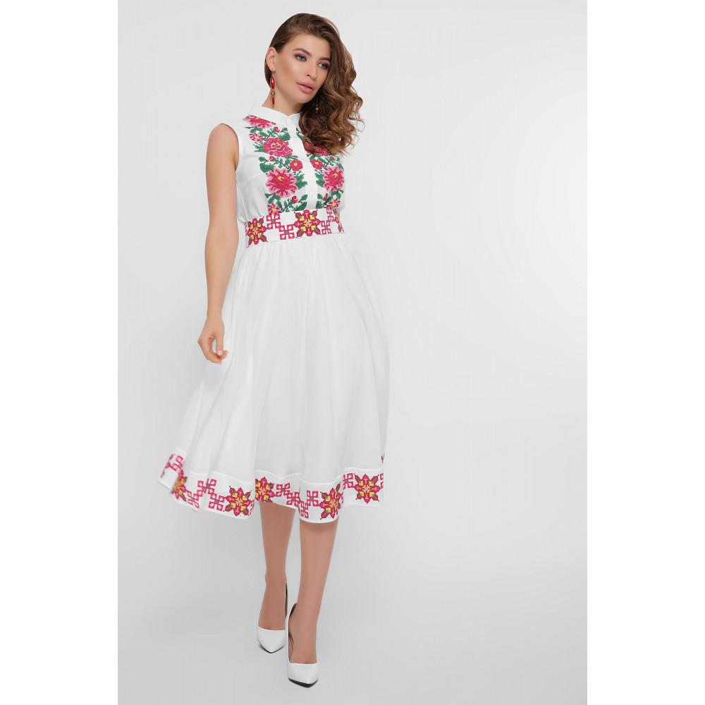 Белое платье с орнаментом Кайли фото 2