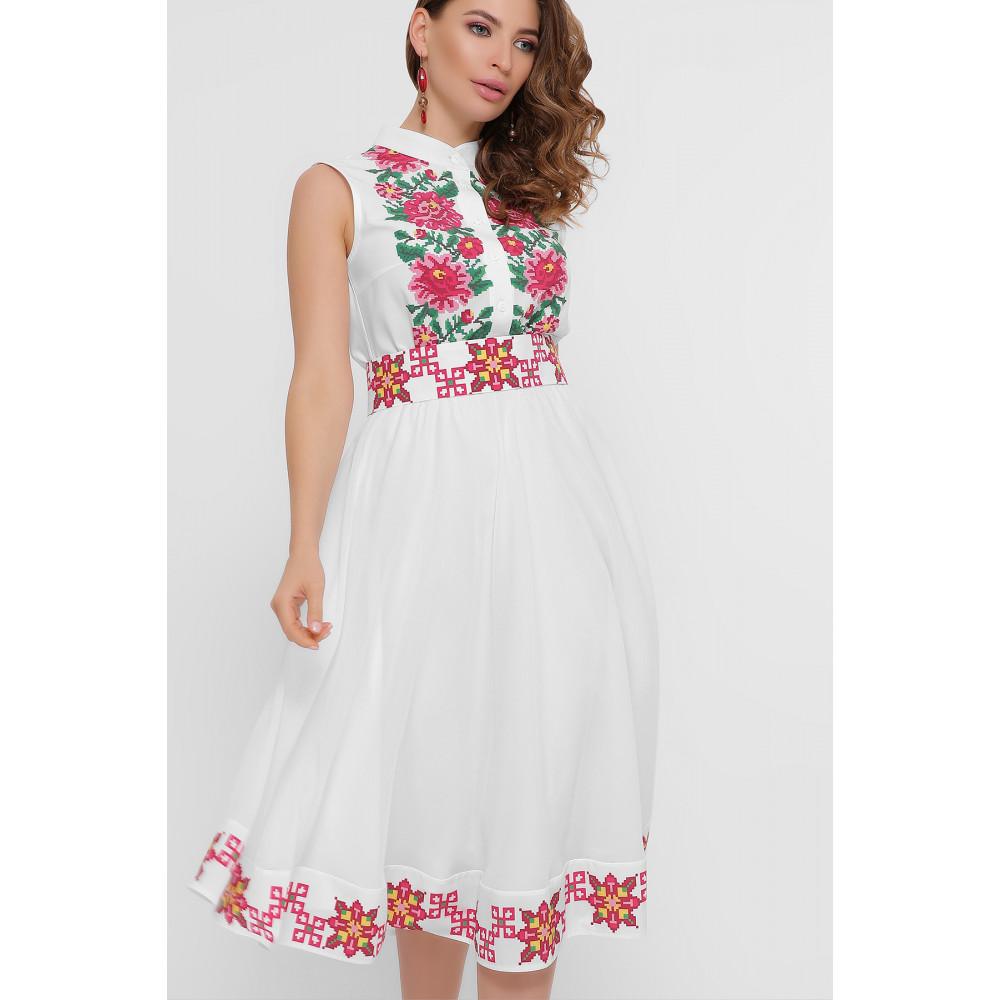 Белое платье с орнаментом Кайли фото 3
