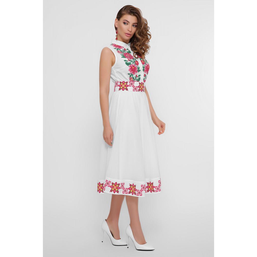 Белое платье с орнаментом Кайли фото 4