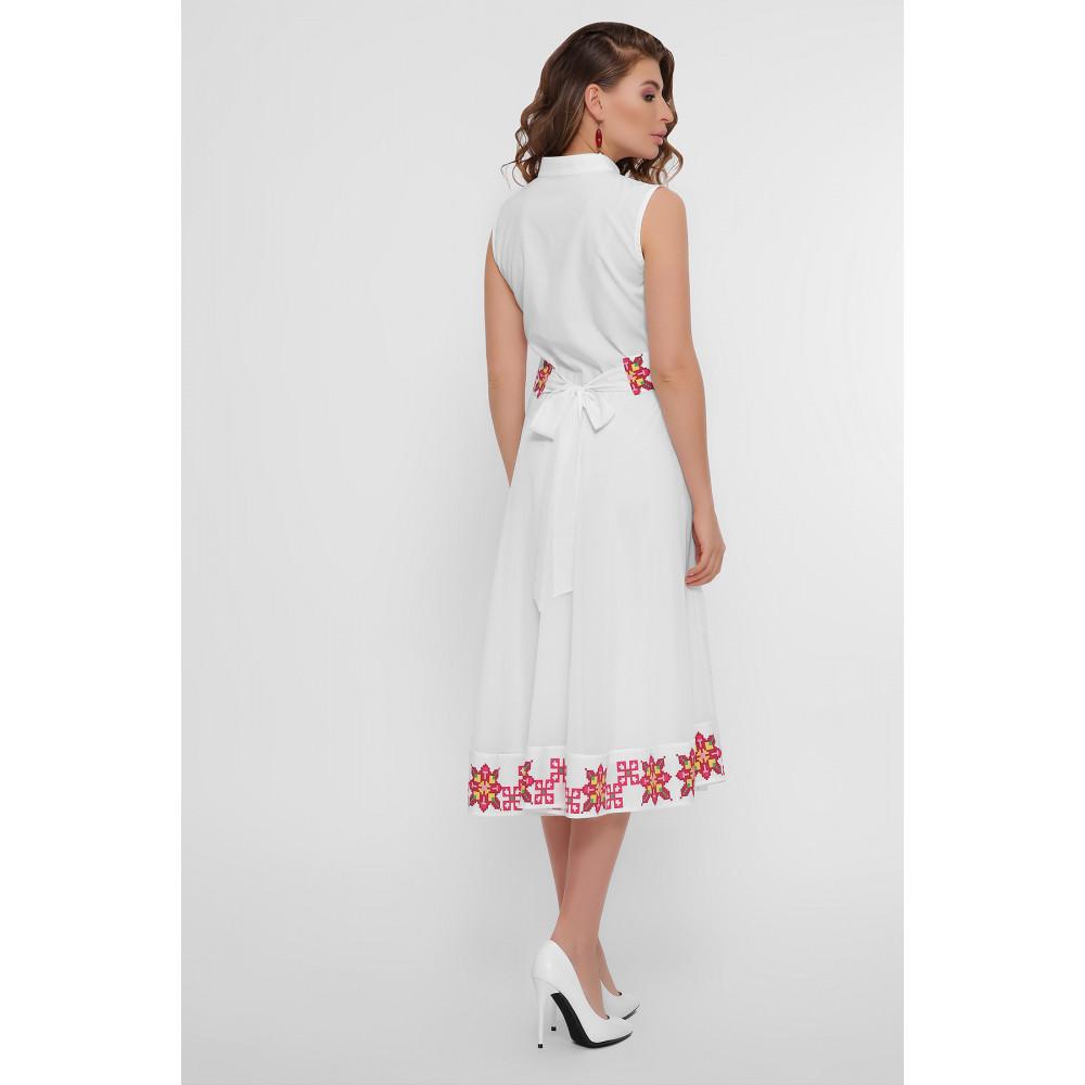 Белое платье с орнаментом Кайли фото 5
