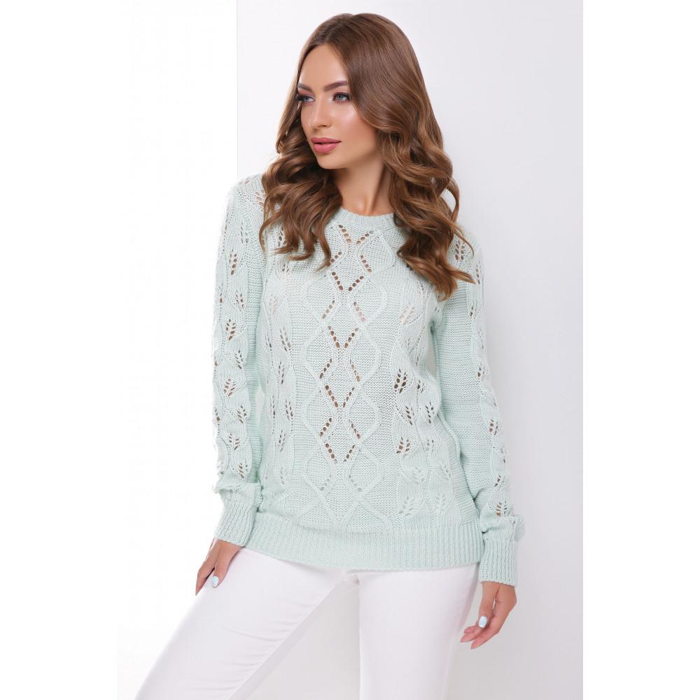 Красивый мятный свитер фото 1
