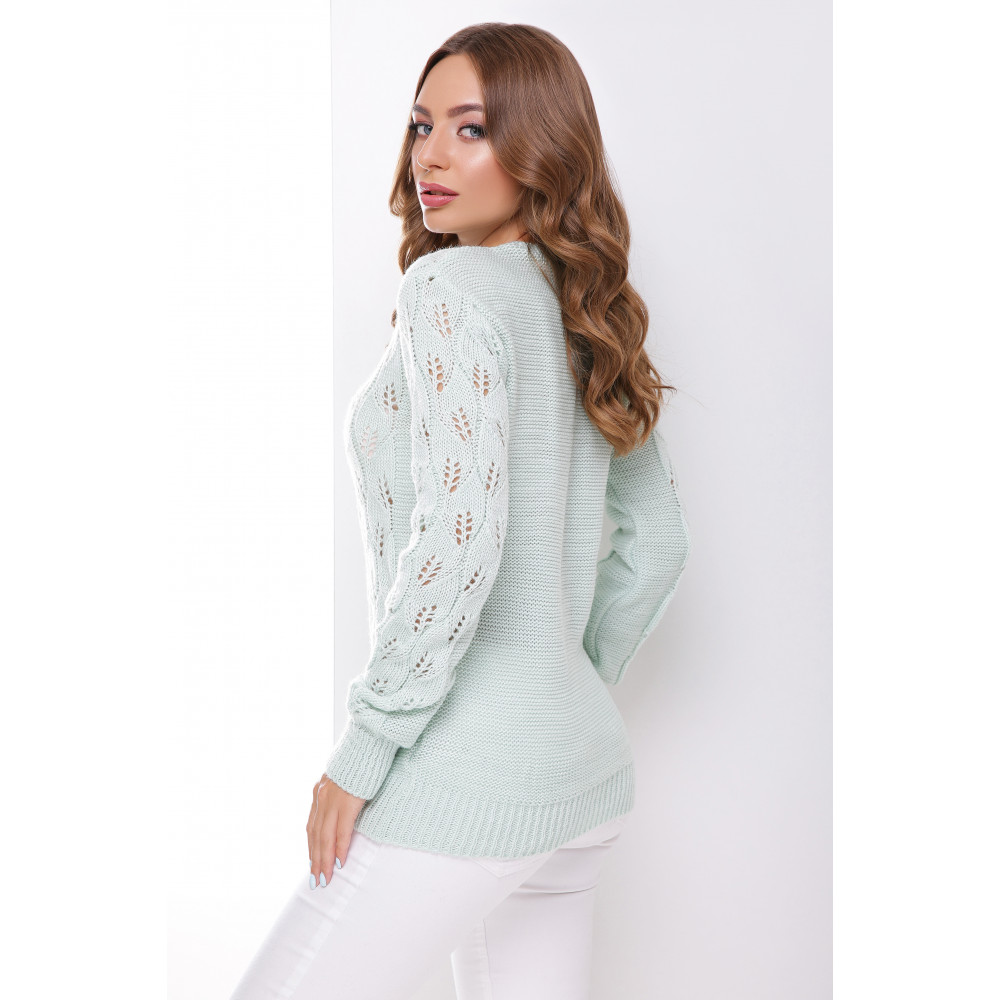 Красивый мятный свитер фото 2