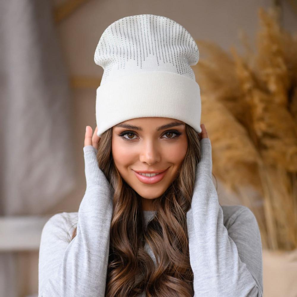 Белоснежная шапка-бини Соло фото 1