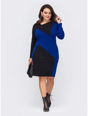 Необычное платье в стиле color-block Сандра