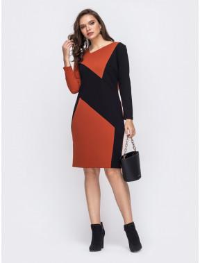Платье-футляр в стиле color-block Сандра