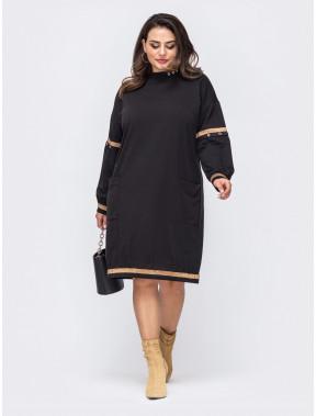 Свободное теплое платье Дария