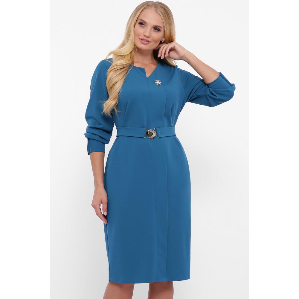 Женственное бирюзовове платье Мадина фото 1