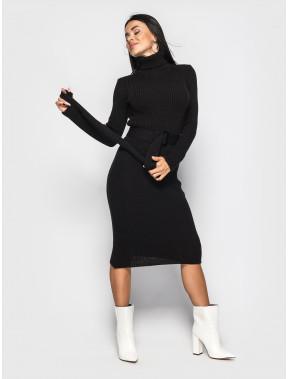 Черное платье-гольф Jasmine с поясом