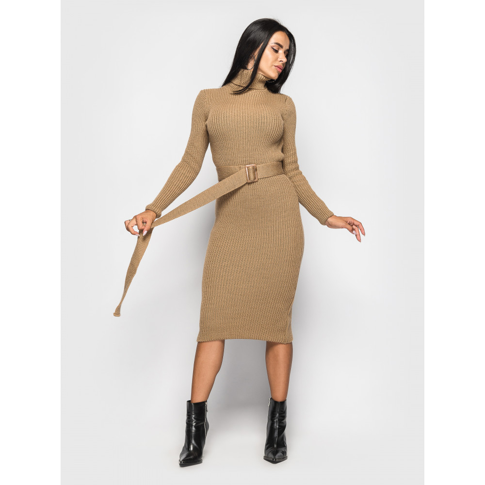 Вязаное платье-гольф Jasmine с поясом фото 1