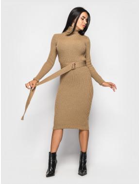 Вязаное платье-гольф Jasmine с поясом