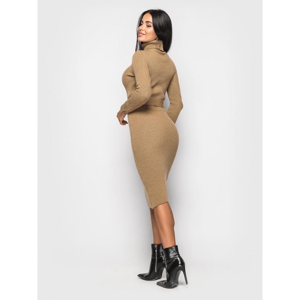 Вязаное платье-гольф Jasmine с поясом фото 2