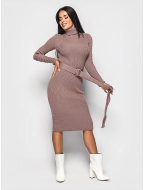 Теплое платье-гольф Jasmine с поясом