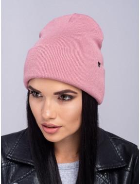Женская розовая шапка Наоми