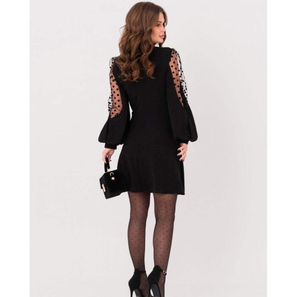 Коктейльное платье с обьемными рукавами фото 2