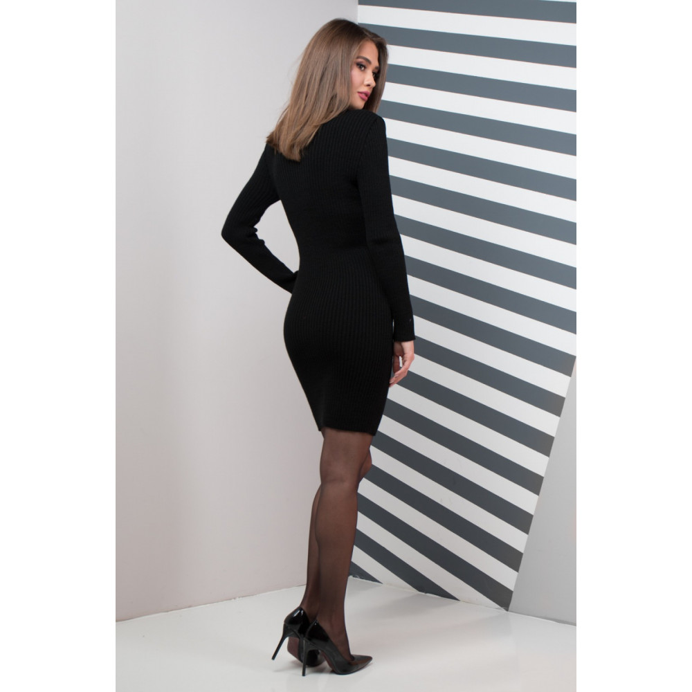 Классическое платье Basic черного цвета фото 2