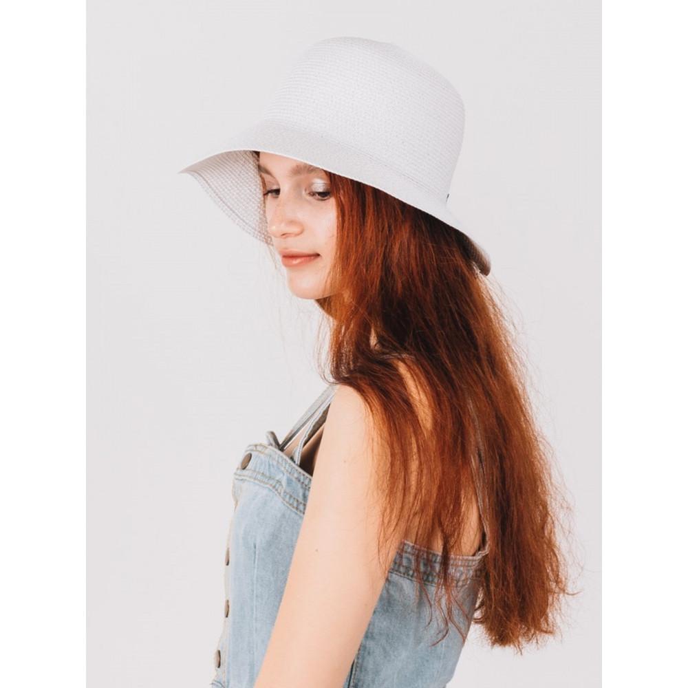 Белая шляпка с бантиком Макарио фото 2