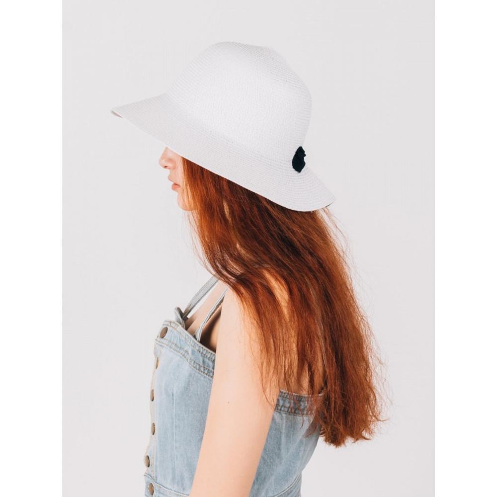 Белая шляпка с бантиком Макарио фото 3