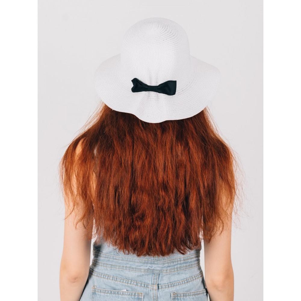Белая шляпка с бантиком Макарио фото 4