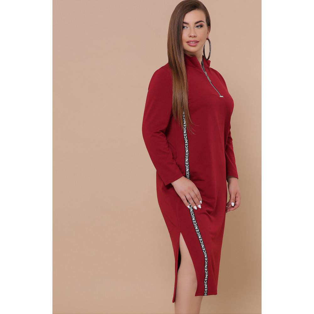 Бордовое платье в спортивном стиле Джилл фото 1