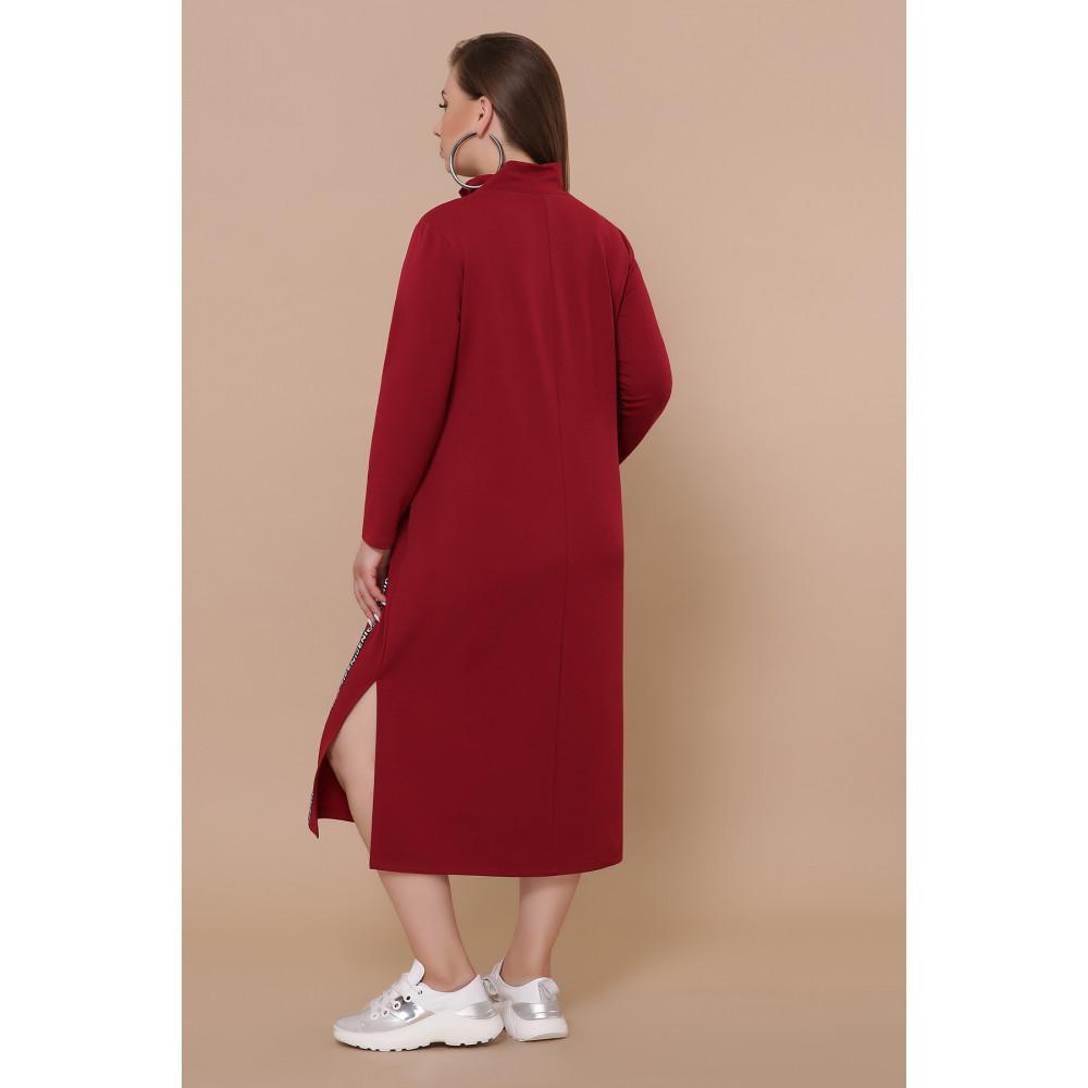 Бордовое платье в спортивном стиле Джилл фото 3