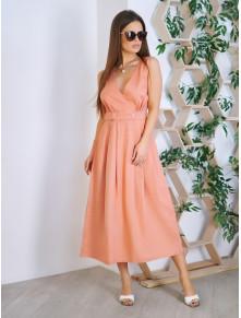Елегантна рожева сукня-міді Аксенія