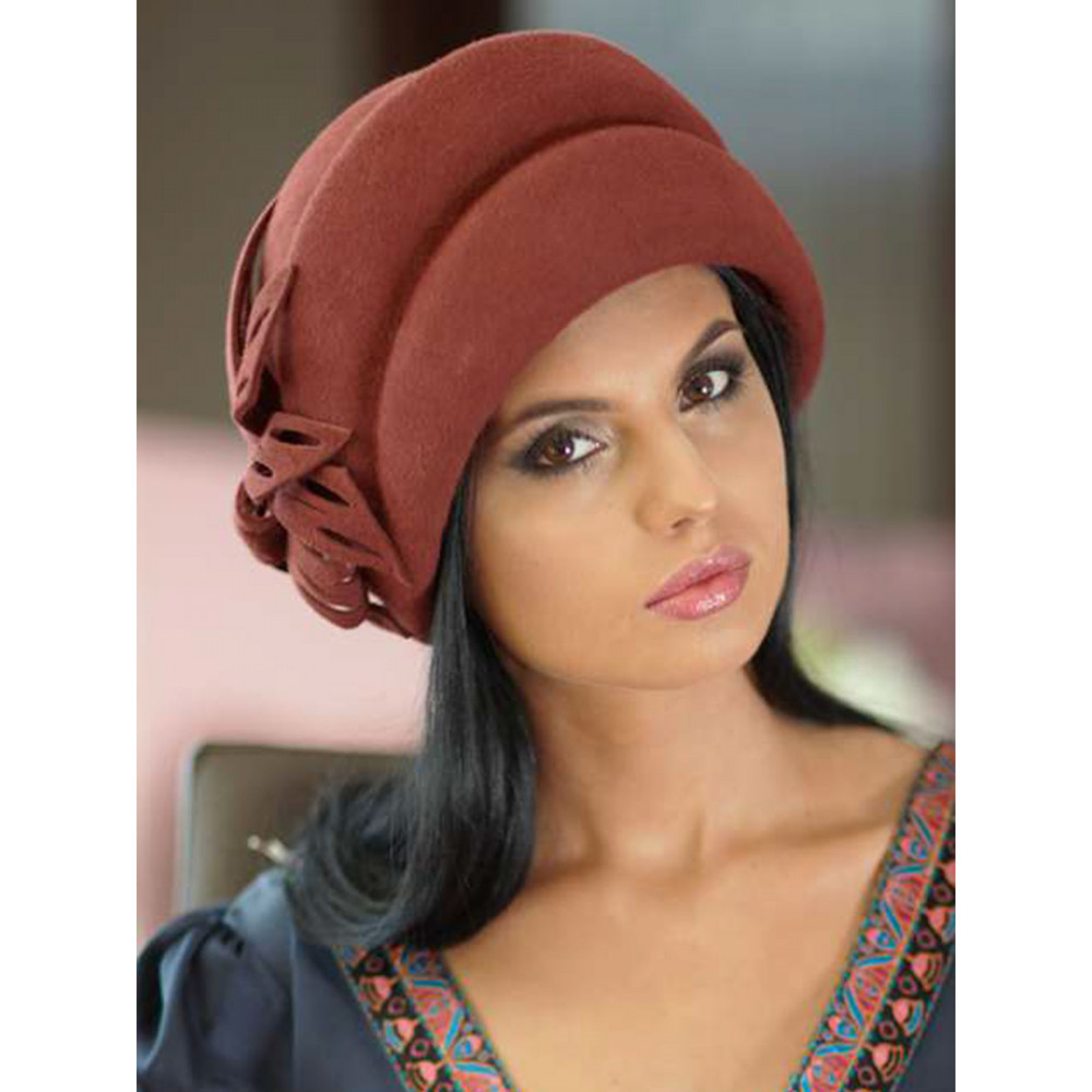 Классическая объемная шляпа 168-1 фото 1