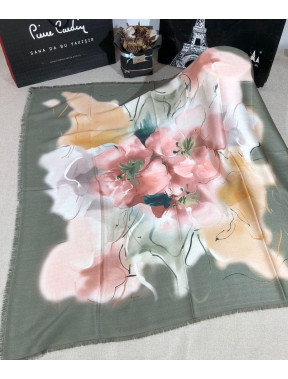 Модный зеленый платок Bona с принтом