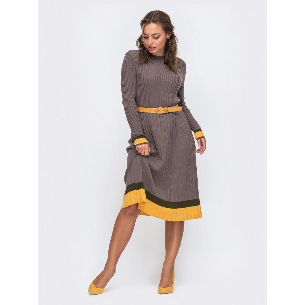 Вязаное платье с контрастной полосой Тори фото 1