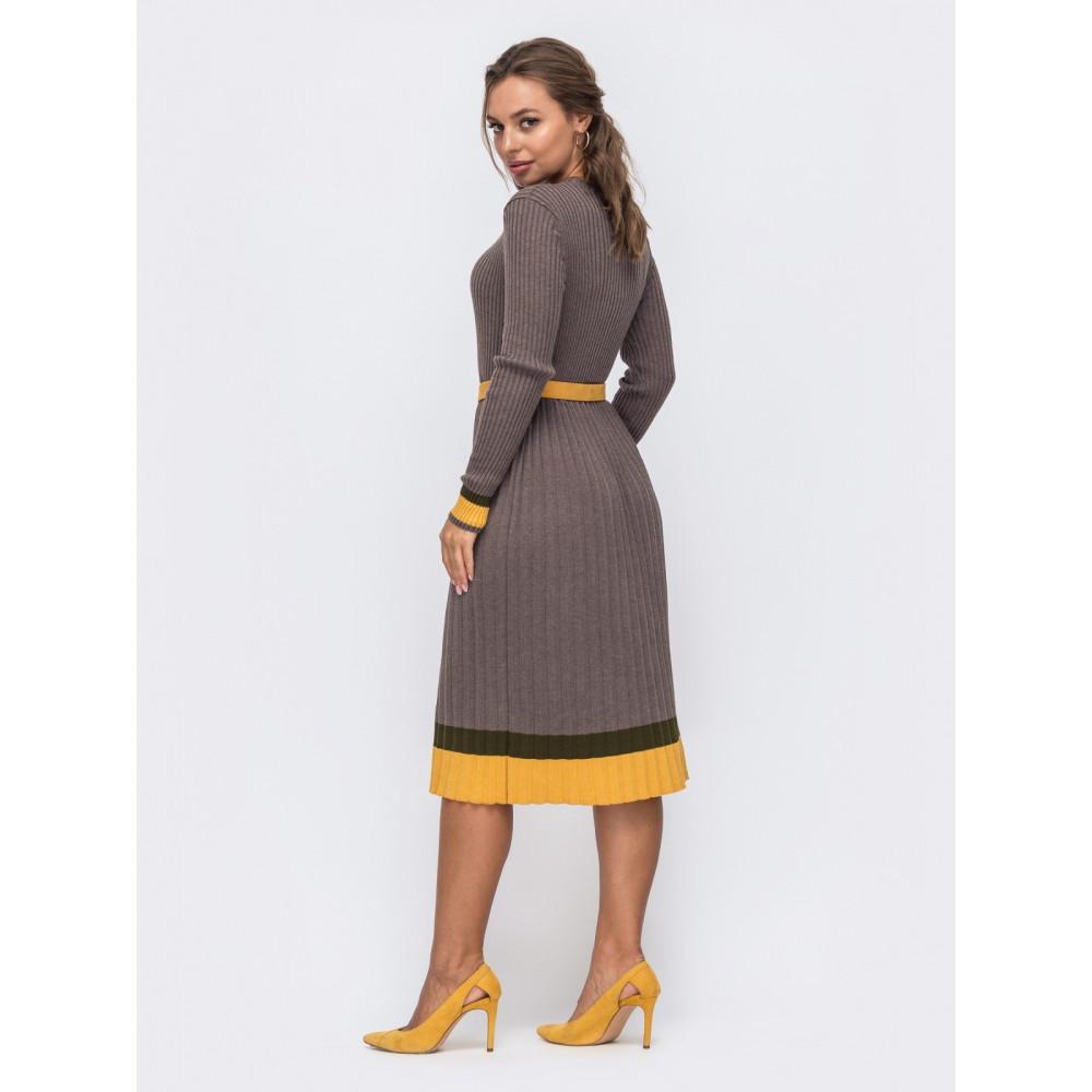 Вязаное платье с контрастной полосой Тори фото 2