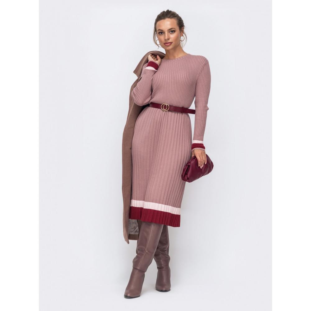 Вязаное платье с плиссированной юбкой Тори фото 1