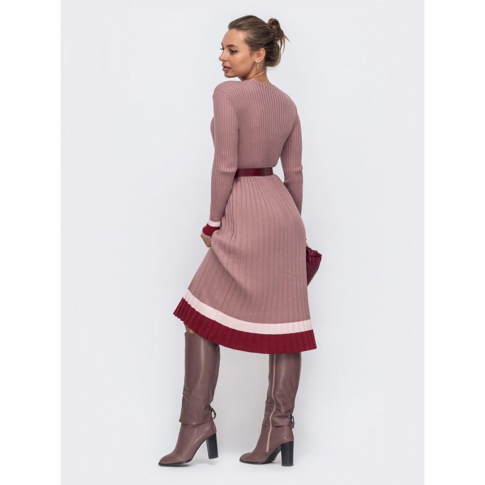 Вязаное платье с плиссированной юбкой Тори фото 2