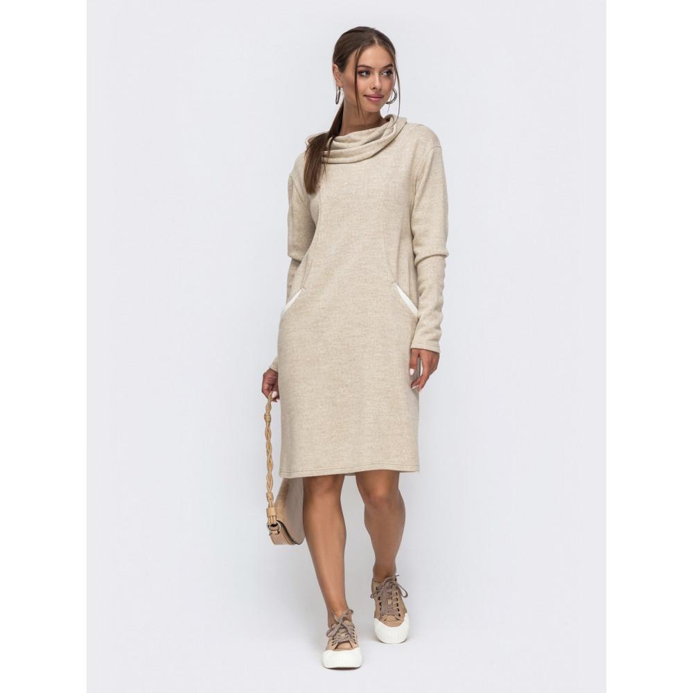 Кофмортное вязаное платье с капюшоном Sport фото 2