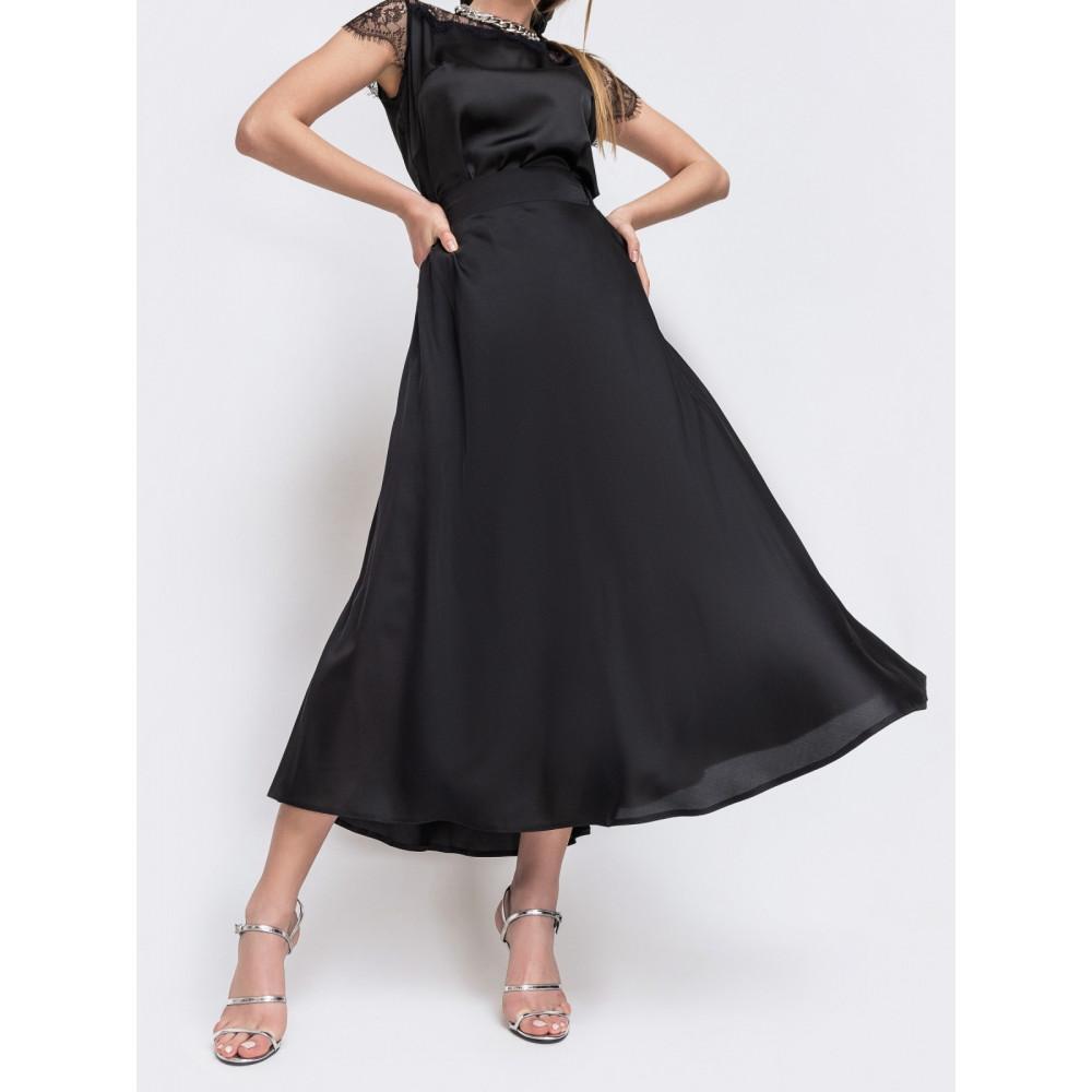 Нарядная черная юбка из шелка Армани фото 1