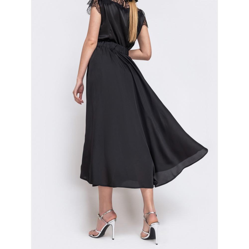 Нарядная черная юбка из шелка Армани фото 2