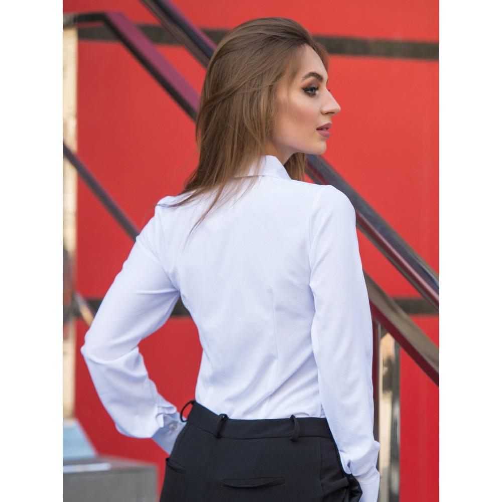 Класична біла блуза для ділових жінок фото 2