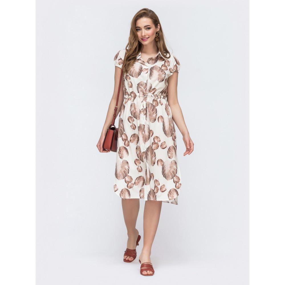 Красивое платье-рубашка прямого кроя фото 1