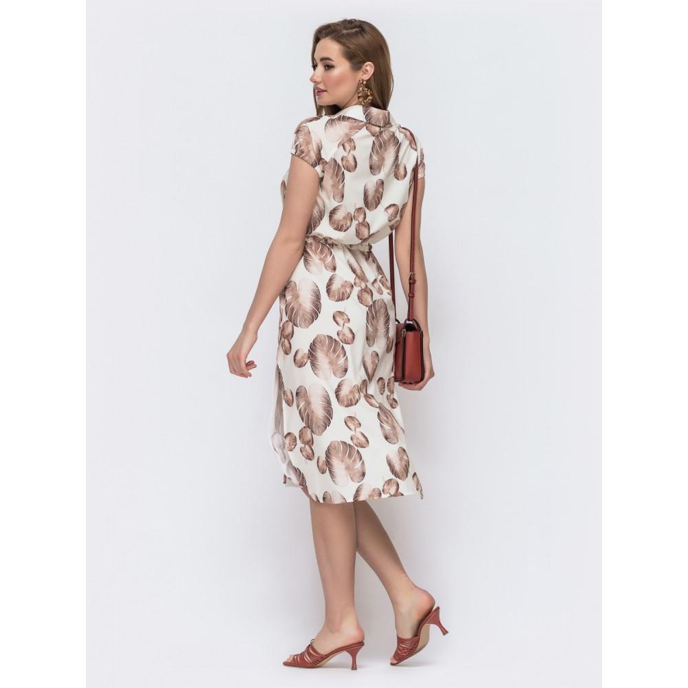 Красивое платье-рубашка прямого кроя фото 2