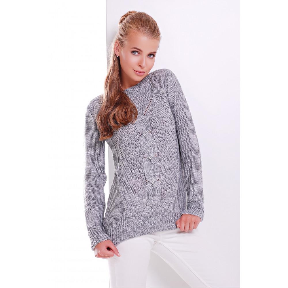 Интересный свитер с блестящим декором фото 1
