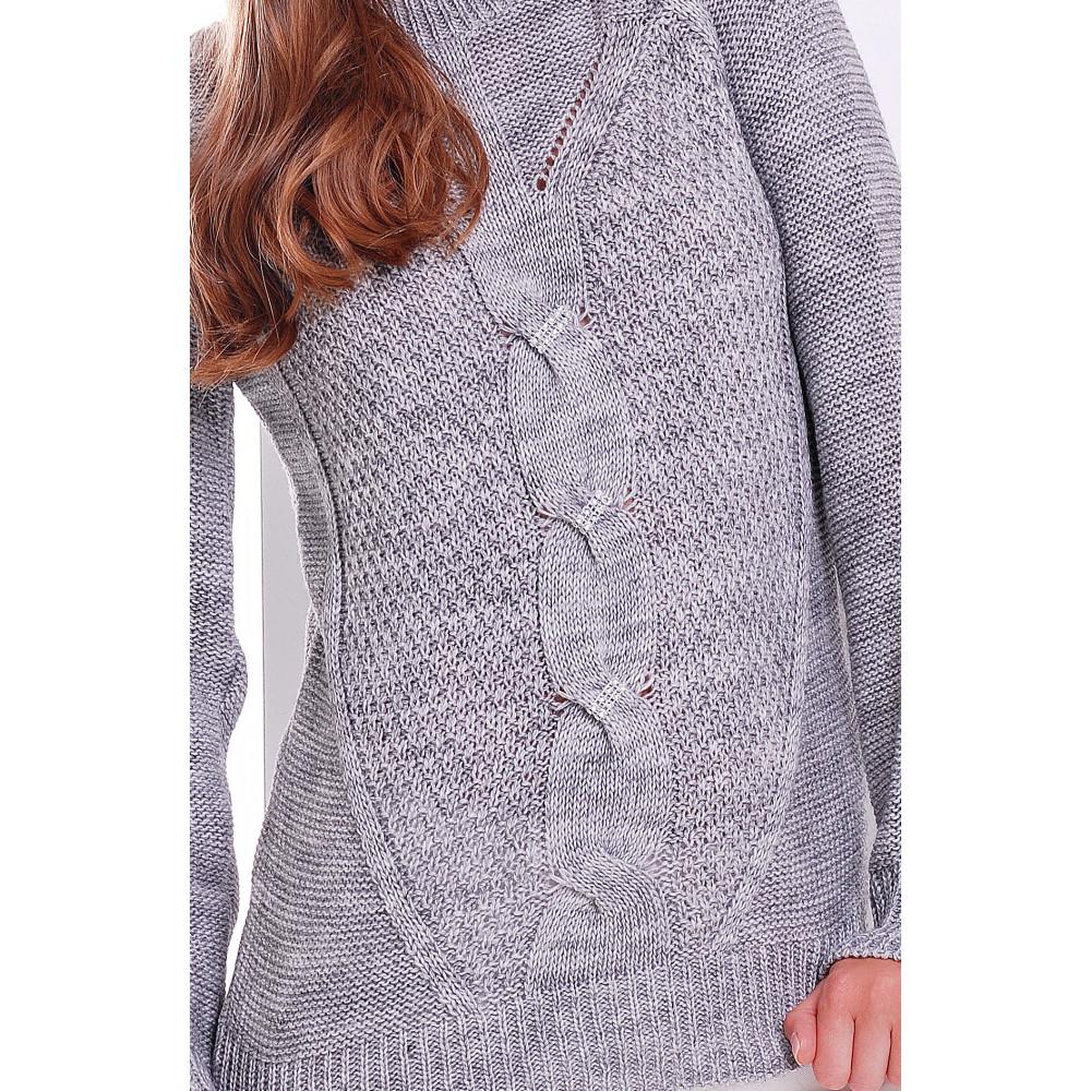 Интересный свитер с блестящим декором фото 2