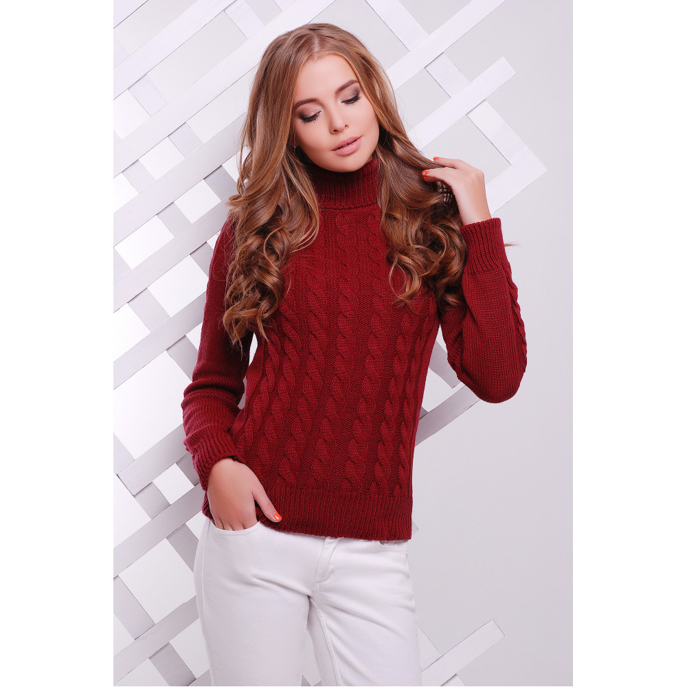 Женственный теплый свитер фото 1