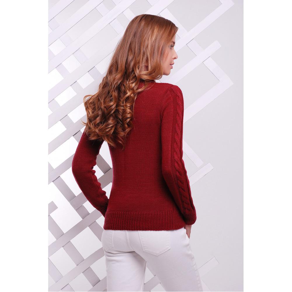 Женственный теплый свитер фото 4