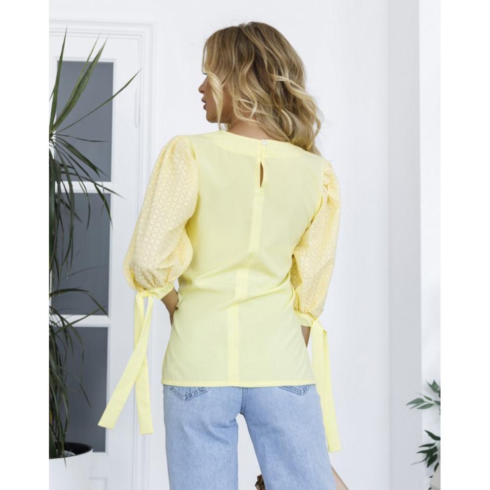 Женская блузка с рукавами-фонариками фото 2