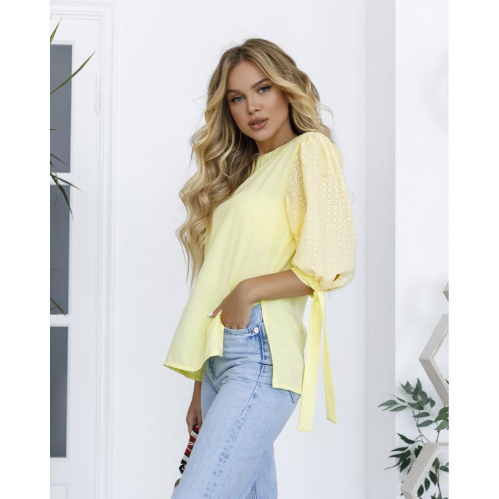 Женская блузка с рукавами-фонариками фото 1