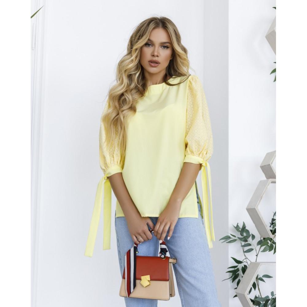 Женская блузка с рукавами-фонариками фото 3