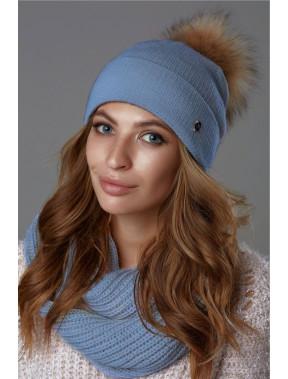 Теплая шапка с флисом Бьянка