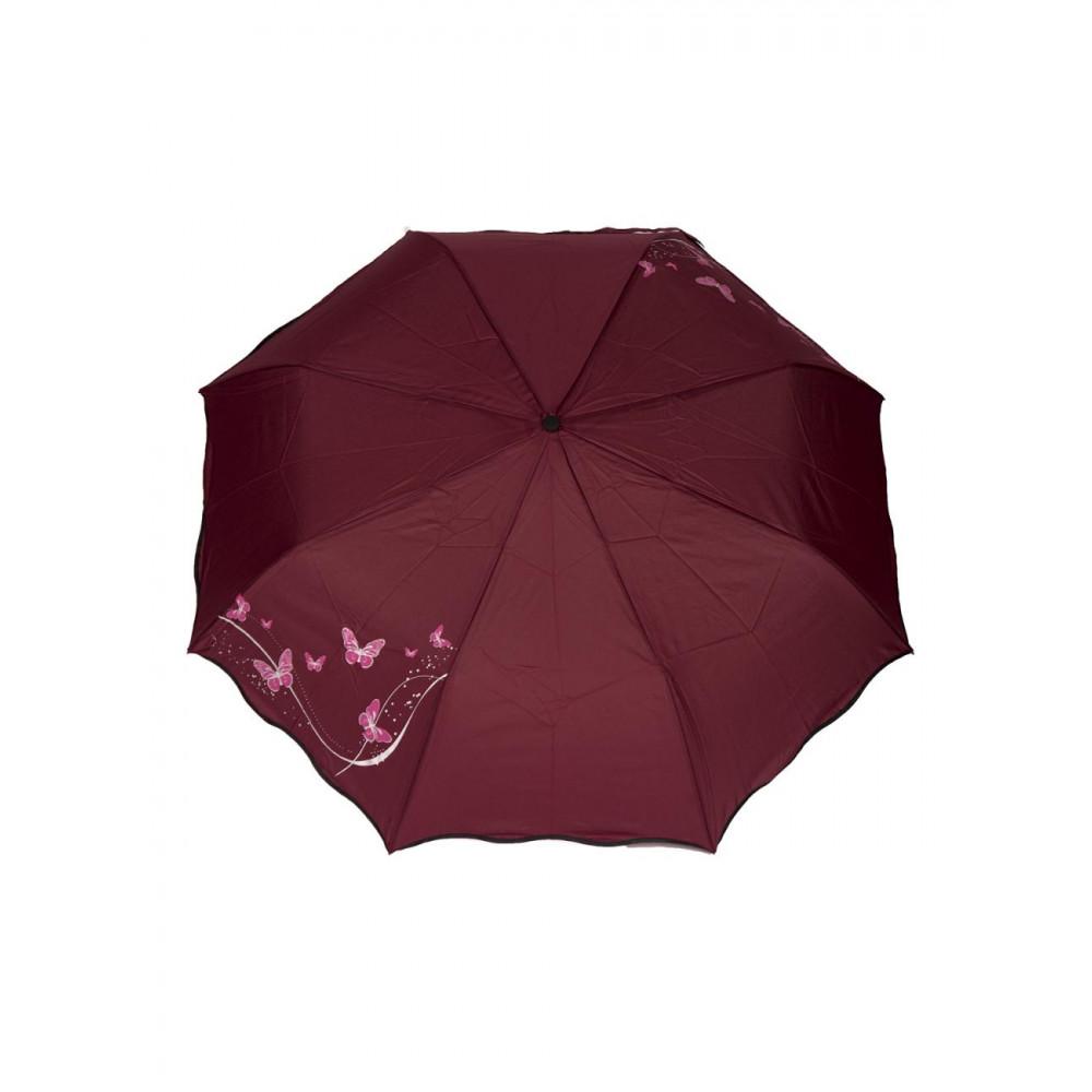 Якісна бордова парасолька фото 1